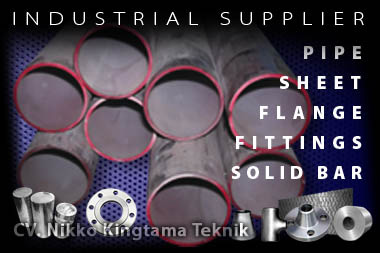 Toko Supplier Solid Bar Plate Pipa Stainless Steel di Glodok Jakarta