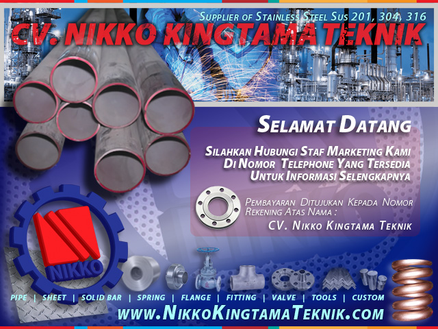 Supplier Stainless Steel di Glodok Jakarta Indonesia